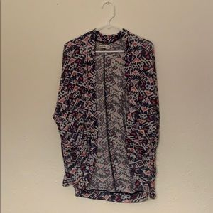 pattern cardigan sweater Abercrombie